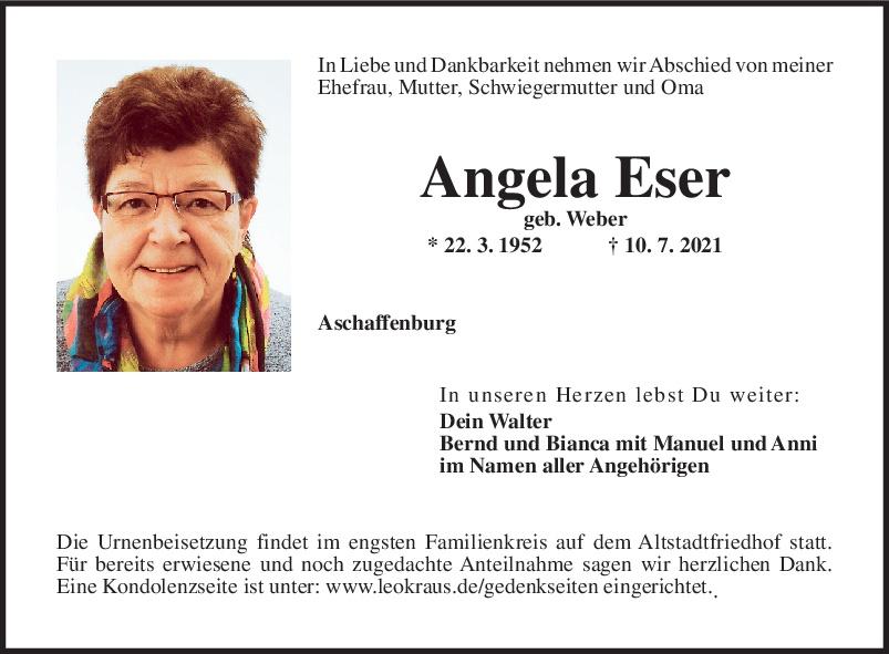 Traueranzeige von  Angela Eser